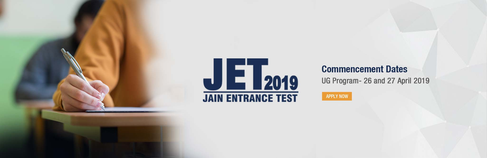 UG Admissions in Best college | JET 2019